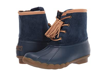 Sperry Saltwater Tassel Corduroy (Navy) Women