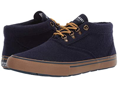 Sperry Striper Storm Chukka (Navy Wool) Men