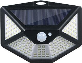 pedkit 112LEDs luz de parede movida a energia solar PIR sensor de movimento e iluminação 3 modos de holofote com de amplo ...