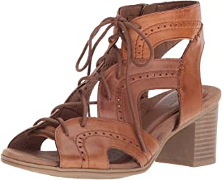 Cobb Hill Women's Hattie Open Lace Heeled Sandal, tan Leather, 11 M US