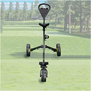 KXDLR 3 Wheel Folding Push Pull Golf Cart - Foot Brake - One Second to Open & Close