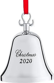 Klikel Christmas Ornament 2020 - Christmas Bell - Bell Ornament for Christmas Tree - Christmas Bell Silver Ornament - Engr...
