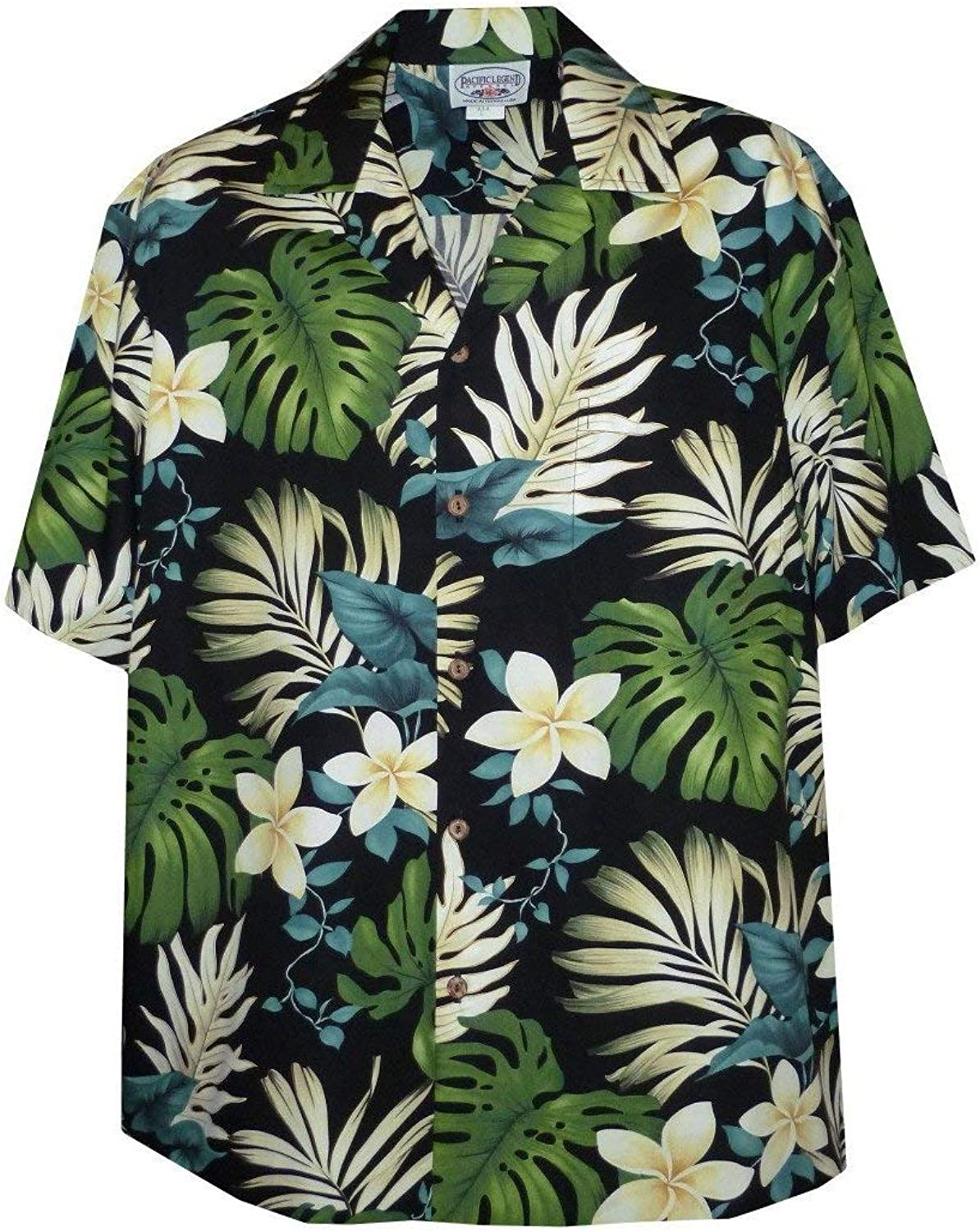 d4d095bb98 Tropical Floral Monstera and and and Plumeria Hawaiian Shirt caf228 ...