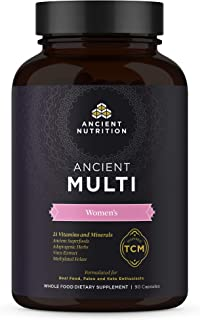 Ancient Multi Women's - 21 Multi Vitamin & Immune Support, Adaptogenic Herbs, Methylated Folate, Paleo & Keto Friendly, 90...