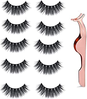 Professional (5 pairs) Faux 3D Mink Eyelashes Thick Long Multilayer Fluffy False Eyelashes With Free Precision Eyelashes Clip
