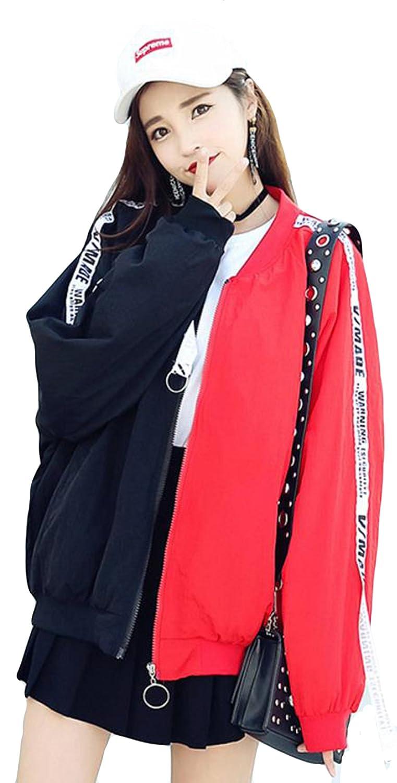 (ニカ)レディー ス ジャンパー 春 秋 コート ブルゾン ジャケット 長袖 薄手 原宿系 コート 韓国風 可愛い おしゃれ BF風 ブルゾン