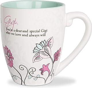 Pavilion Gift Company Mark My Words Gigi Floral Butterfly Grandma Coffee Tea Mug, Large, Teal
