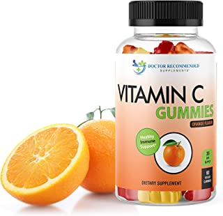 Vitamin C Gummies for Adults and Kids - 80mg VIT C Per Serving as Ascorbic Acid - Pectin Based Gummy Immune Support with N...