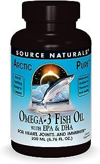 Source Naturals ArcticPure Omega-3 Fish Oil Liquid Maximum Potency EPA + DHA for Heart, Joint, Brain & Immune Health - Non...