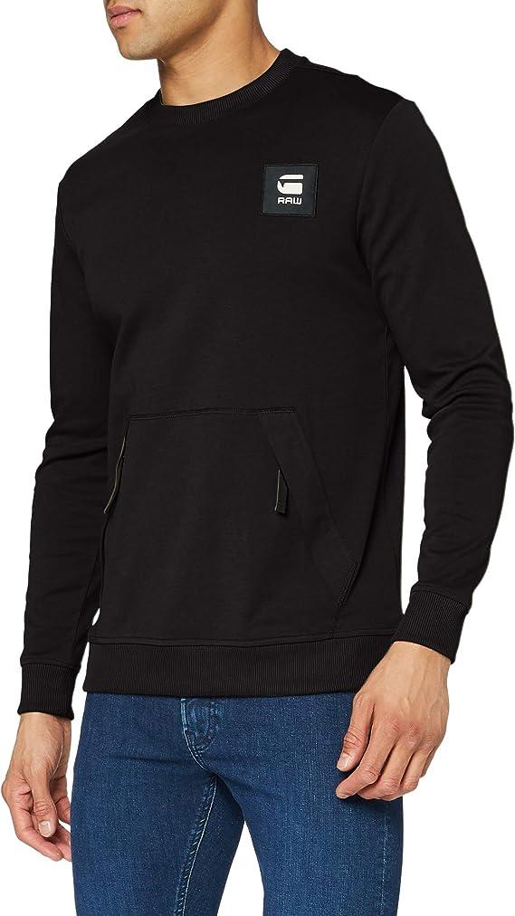 G-STAR RAW Box Logo Pocket Tweater Sudadera para Hombre