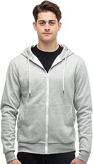 Mens Full Zip Hoodie 3-Pocket Athletic Lightweight Sweatshirts Jacket