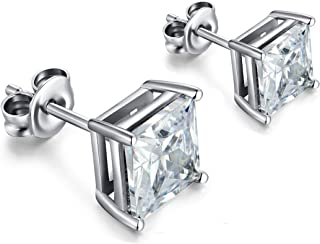 Best silver square stud earrings Reviews