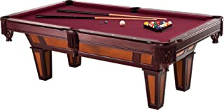Fat Cat Reno 7.5' Pool Table with Dark Cherry Finish and Wine Colored Cloth, Accuslate Billiard Surface for Consistent Str...