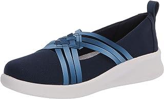 حذاء باليه مسطح بدون كعب للنساء من كلاركس بلون اخضر داكن 2.0