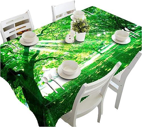 HUANZI Tischw he 3D Größer Baum Design-Tischplattenabdeckung Der Rechteckigen Tischdecke Der Retro- Tischdecke Hochzeit Partei Tischdecke Im Freien