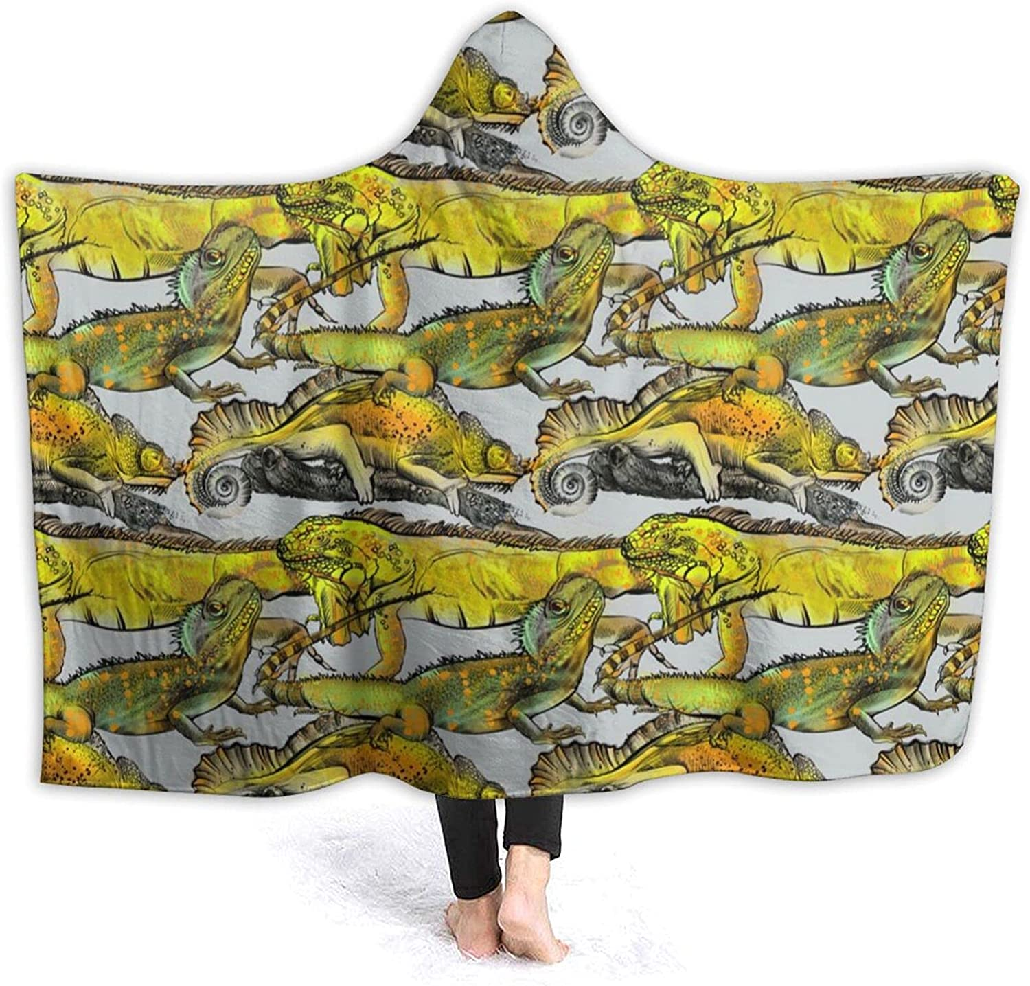 Hooded Blanket Limited time for free shipping Poncho 4 years warranty Wearable Wrap with Fl Flannel Soft