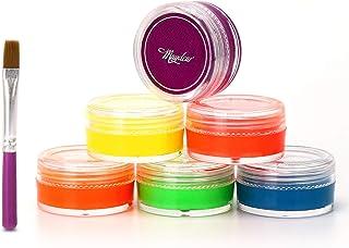 Maydear 6 Colors Water based Eyeliner gel Set-Masquerade Body Face Paint Makeup – Dark Color Set