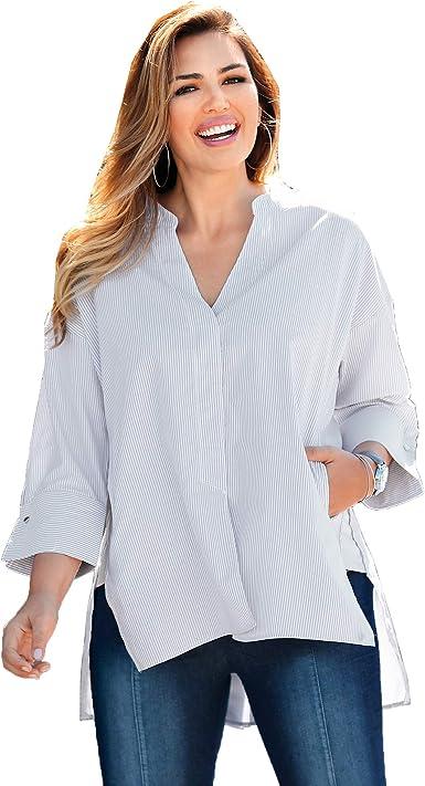 VENCA Blusa de Cuello Mao con Botones bajo Tapeta Mujer - 006951