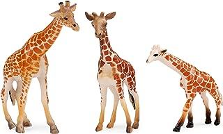 UANDME Giraffe Toy Figurines Set, Realistic Giraffe Family Figures Cake Toppers