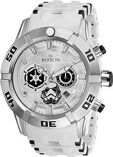 26552 Star Wars Reloj para Hombre acero inoxidable quarzo Esfera plata