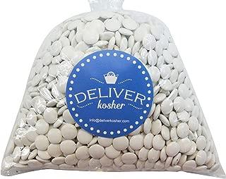 Deliver Kosher Bulk Candy - White Mint Chocolate Lentils - 1lb Bag