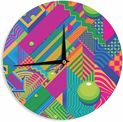 Kess InHouse Ivan Joh Temptation Red Teal 12 Wall Clock