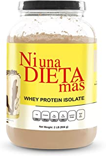 NI UNA DIETA MAS - Whey Protein Isolate (Delicious Chocolate) No Sugar, No Lactose, Easy to Mix