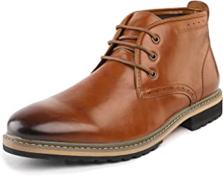 Bruno Marc Men's Motorcycle Boots Leather Dress Oxford Boots