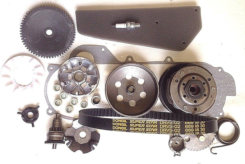 Variomatik + embrague + eje de arranque + bujías de motor de 50 cc