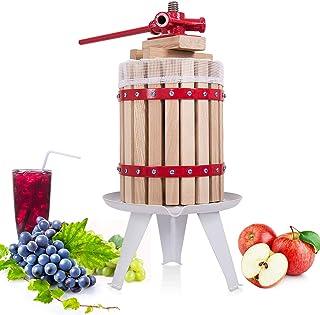 Costzon Fruit Wine Press, 1.6 Gallon /6 Liter Solid Wood Basket, Cider Apple