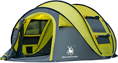 ZANJING 3-4 Persons Large Pop Up Tent Waterproof Family Hiking Tent Opens Instantly in Seconds Camping Automatic Tent
