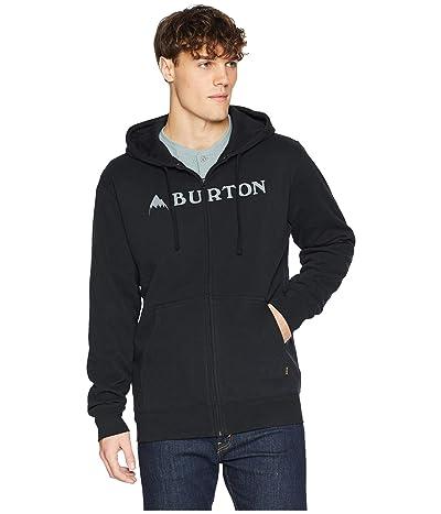 Burton Horizontal Mountain Full Zip Hoodie (True Black) Men