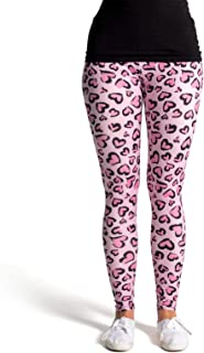Leggings Coloridos Impresos (Talla única) - Design Estampado de Leopardo
