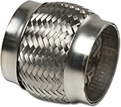 3.5 inches Inlet Stainless Steel Double Braided 2.25 inches Flex Pipe Connector (4.25 inches Overall Length)