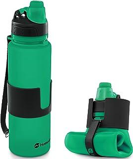 comprar comparacion Nomader Botella de Agua Plegable con Tapa de Rosca a Prueba de Fugas para Viajes, Deportes y Actividades al Aire Libre - S...