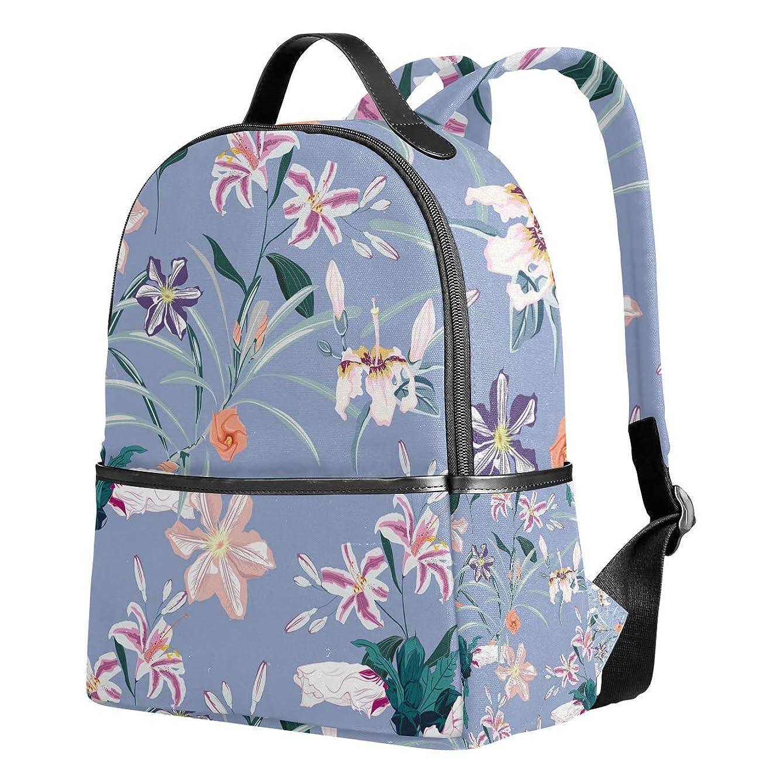 ずんぐりした流行パケットユサキ(USAKI) リュック リュックサック 通学 花柄