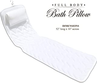 BathLife Full Body Bath Pillow Deluxe - Plush Quilted Bathtub Pillow with 3D Air Mesh Technology, Longer and Wider, Modern and Flexible, Care and Store with Ease!