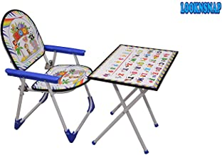 LookNSnap Foldable Multipurpose Table Chair/Table Toy Set for Kids (Blue)