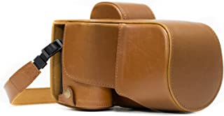 MegaGear Sony Alpha A7S II, A7R II, A7 II (28-70mm) Ever Ready Leather Camera Case and Strap, with Battery Access - Light Brown - MG1122