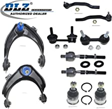 DLZ 10 Pcs Front Suspension Kit-Upper Control Arm Lower Ball Joint Inner Outer Tie Rod End Sway Bars Compatible with 1998 1999 2000 2001 2002 Honda Accord 3.0L 6Cyl V (2997)(-) K9643 K90340 ES3491