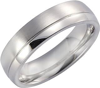Zeeme Stainless Steel 中性戒指不锈钢亚光/光泽灰色389070114