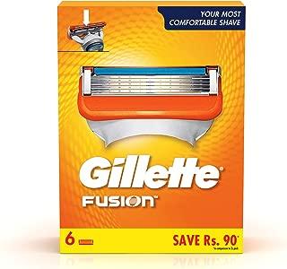 Gillette Fusion Shaving Blades- Pack of 6 (Cartridges)