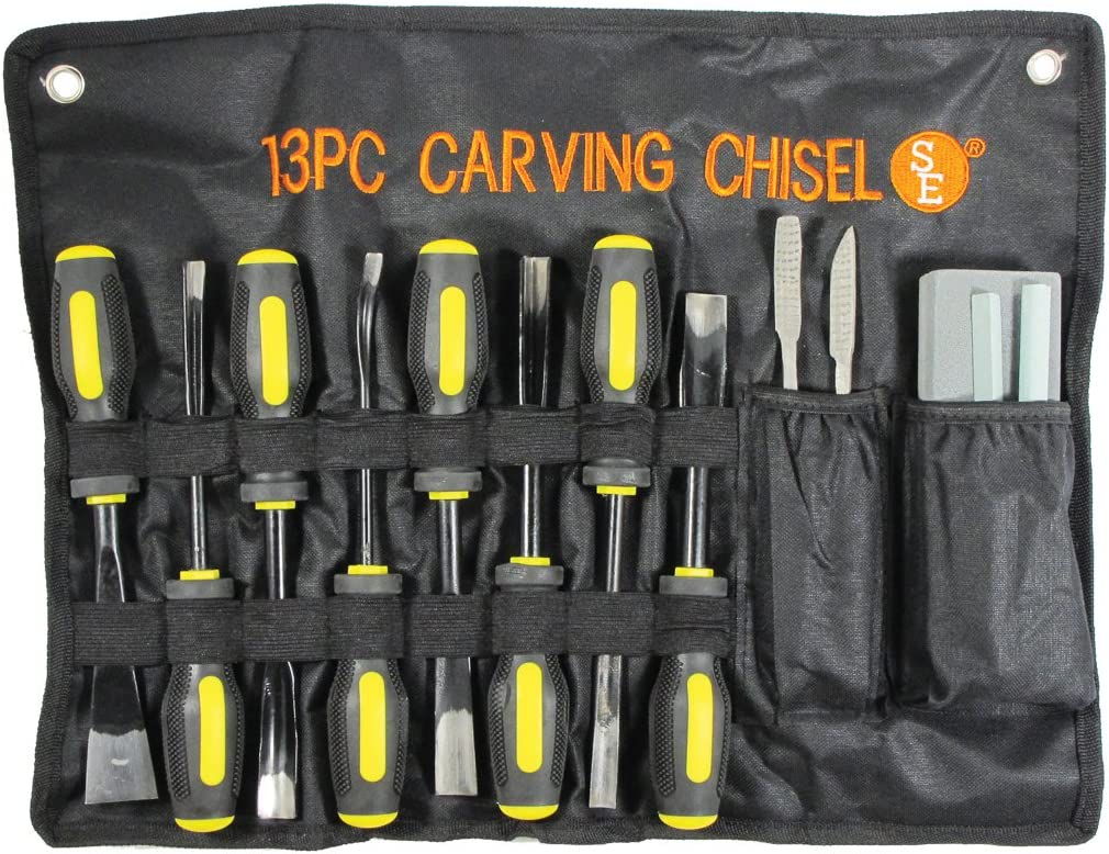 Max 55% OFF SE Professional Wood Carving Set with Heavy 13 Max 48% OFF Cloth Duty Pouch