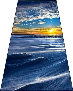 Heathyoga Yoga Towel, Exclusive Corner Pockets Design + Free Spray Bottle, 100% Microfiber Yoga Mat Towel for Hot Yoga, Pilates and Fitness