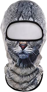 YiZYiF 3D Cat Dog Animal Snowboard Winter Balaclava Ski Full Face Head Cover Mask Cycling Hat