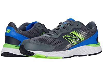 New Balance Kids 680v6 (Little Kid/Big Kid) (Lead/Cobalt) Boys Shoes