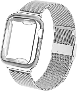 RUOQINI Compatible for Apple Watch Band with Case 38mm 40mm 42mm 44mm,Wristband Replacement Strap for Iwatch for Series 5/4/3/2/1