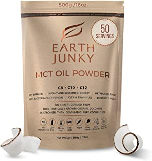 Organic MCT Oil Powder Unflavored - Clean Keto MCT Powder - MCT Powder Creamer for Coffee - 100% Natural Brain Fuel and In...