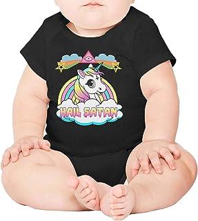 Kids Rainbow Hail Satan Unicorn Cross Little Girls Jacket for Girls Boys Casual Cozy Coats