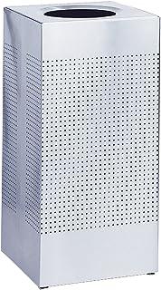 Rubbermaid Commercial Fgsc14epldp Silhouette Designer Corbeille, carré, Open Top, 16-gallon, acier inoxydable, 1